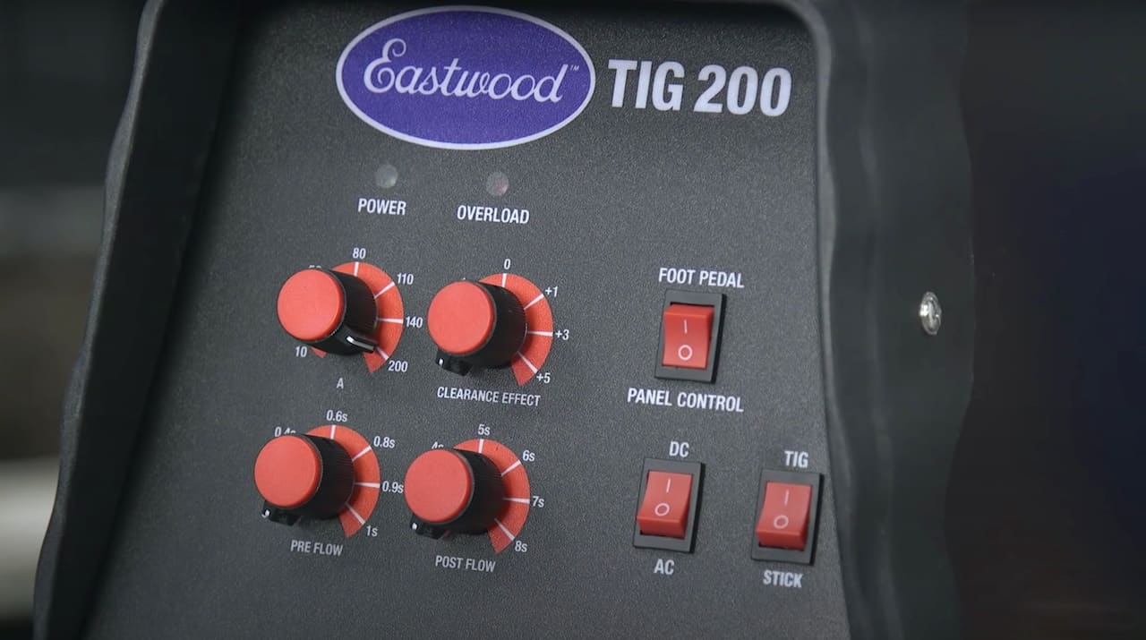 Eastwood TIG 200 Front Panel