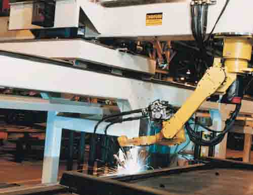 Robot on a Gantry for Welding Bigger Parts